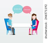 people sitting and talking... | Shutterstock .eps vector #246571192