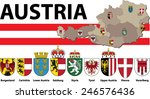 coat of arms of austria with map | Shutterstock .eps vector #246576436