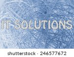 the word it solutions made of... | Shutterstock . vector #246577672