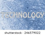 the word technology made of... | Shutterstock . vector #246579022