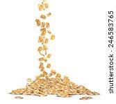 falling five marked golden coins | Shutterstock . vector #246583765