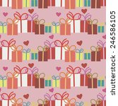 seamless pattern for wrapping... | Shutterstock .eps vector #246586105