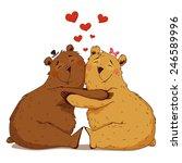 love bears  cuddling. | Shutterstock .eps vector #246589996