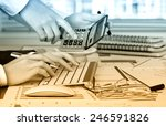 business accounting  | Shutterstock . vector #246591826
