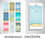 stylish mobile screen layouts...