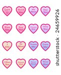 little love hearts with...   Shutterstock .eps vector #24659926