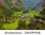 village in flam   norway  ... | Shutterstock . vector #246599548