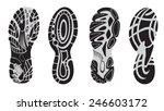 footprint sport shoes | Shutterstock .eps vector #246603172