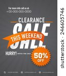 big clearance sale flyer ... | Shutterstock .eps vector #246605746