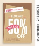 clearance sale flyer  template... | Shutterstock .eps vector #246605758