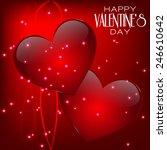 valentines day design. red... | Shutterstock . vector #246610642