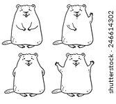 cheerful groundhog. groundhog... | Shutterstock .eps vector #246614302