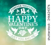 happy valentine's day card with ... | Shutterstock .eps vector #246624376