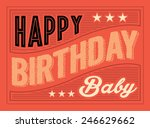 birthday greeting card template ... | Shutterstock .eps vector #246629662
