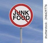 a conceptual sign against junk... | Shutterstock . vector #246629776