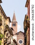 Small photo of Allay in Verona with view to Sant Anastasia church.