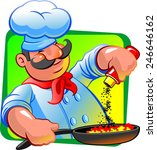 cook with spices | Shutterstock .eps vector #246646162