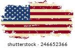 american grunge flag. vector... | Shutterstock .eps vector #246652366