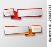 origami paper infographic... | Shutterstock .eps vector #246659065