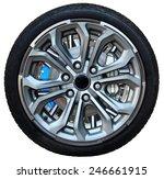 design pattern of car wheel ... | Shutterstock . vector #246661915