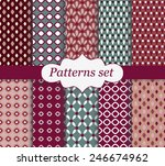 set of patterns.retro geometric | Shutterstock .eps vector #246674962