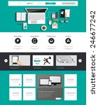 business flat website template...