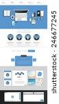 flat website template vector...