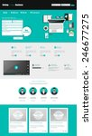 flat website template vector...