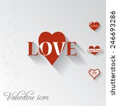 heart icon. valentine greeting... | Shutterstock .eps vector #246693286