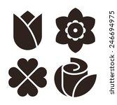 flower icon set   tulip ... | Shutterstock .eps vector #246694975