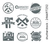 carpentry black label set with... | Shutterstock .eps vector #246697252