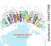 extended family poster with... | Shutterstock .eps vector #246697348