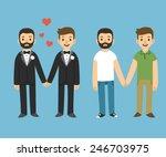 Happy Gay Couple In Wedding...