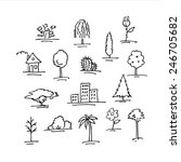 sketch icons of plants and... | Shutterstock . vector #246705682