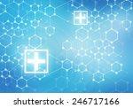 conceptual background digital... | Shutterstock . vector #246717166