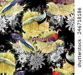 pheasant animals birds in... | Shutterstock .eps vector #246718186