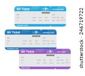 three air tickets isolated on... | Shutterstock .eps vector #246719722