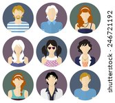circle different people icons... | Shutterstock .eps vector #246721192