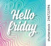 summer poster friday.typography ... | Shutterstock .eps vector #246722596