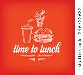 lunch menu  restaurant design. | Shutterstock .eps vector #246722632