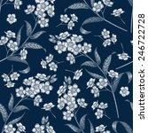 vector seamless pattern.... | Shutterstock .eps vector #246722728
