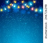 colored garland in blue...   Shutterstock .eps vector #246726298