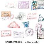 visa stamp   Shutterstock . vector #24672637