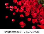 Bouquet Of Roses Isolated On...