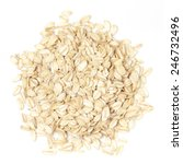 oats on white by top view   Shutterstock . vector #246732496