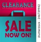 sale vector poster  3d paper... | Shutterstock .eps vector #246739942