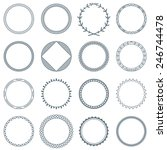 collection of 16 round... | Shutterstock .eps vector #246744478