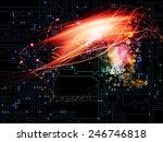 waves of technology series.... | Shutterstock . vector #246746818