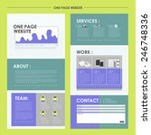 geometric one page website...