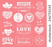 valentine's day labels  icons...   Shutterstock .eps vector #246755245